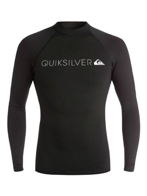 QUIKSILVER MENS RASH VEST.WARM HEATER UPF50+ BLACK LONG SLEEVED TOP 7S/3031/KVDO